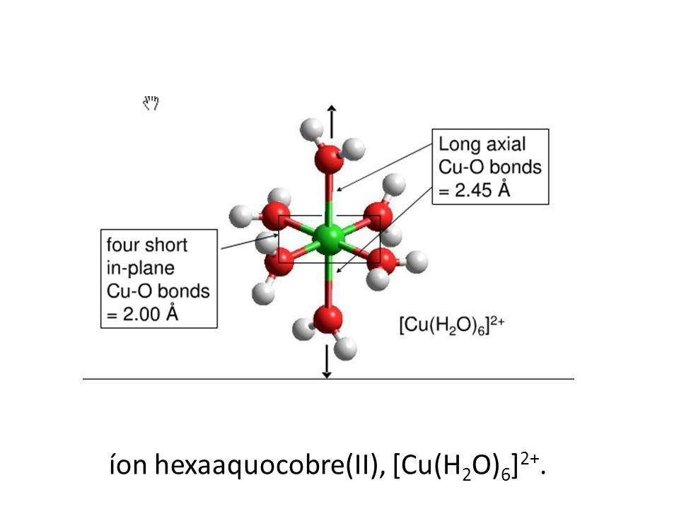 íon hexaaquocobre(II), [Cu(H2O)6]2+.